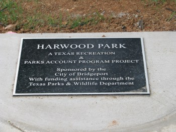 Harwood Park plaque